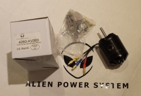 APS Brushless Outrunner Motor 4260S 100Kv with Sensor