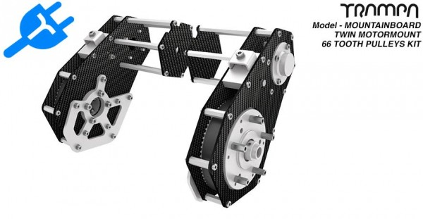 Trampa Mountainboard Twin Motor mount without Motor