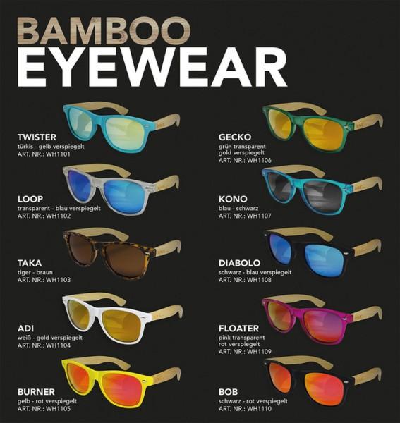 Wave Hawaii Bamboo Twister Sunglasses