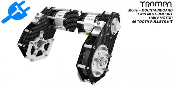 trampa mountainboard twin motor mount incl motors. Black Bedroom Furniture Sets. Home Design Ideas