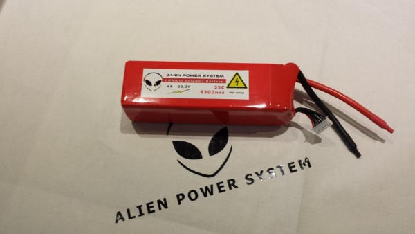 Alien 6S 6300mah 35C LiPo Battery