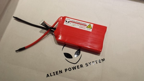 APS 6S 6300 mAh 35C LiPo Battery - Flat Configuration