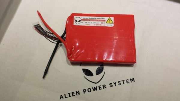 APS 6S 10000mAh 35C LiPo Battery - Flat Configuration