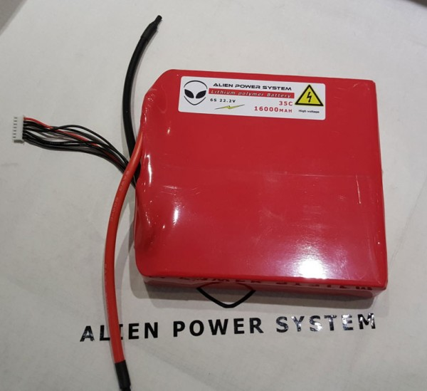 APS 6S 16000mAh 35C LiPo Battery - Flat Configuration